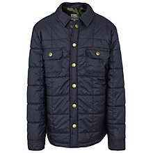 Buy Fat Face Boys' Quilted Shacket, Navy Online at johnlewis.com