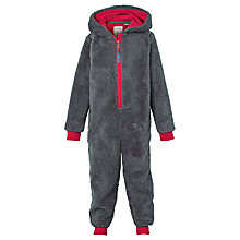 Buy Fat Face Children's Baboon Fleece Onesie, Grey Online at johnlewis.com