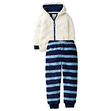 Buy Fat Face Children's Thick Yeti Pyjamas, Ecru Online at johnlewis.com