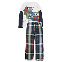 Buy Fat Face Children's Dinosaur Snow Patrol Pyjamas, Navy/Multi Online at johnlewis.com