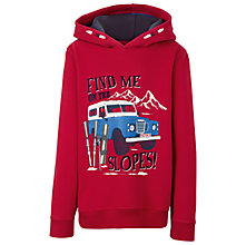 Buy Fat Face Boys' Ski Slopes Hoodie, Cherry Online at johnlewis.com