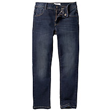 Buy Fat Face Boys' Slim Fit Jeans, Dark Blue Online at johnlewis.com