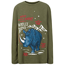 Buy Fat Face Boys' Woolly Rhino T-Shirt, Green Online at johnlewis.com