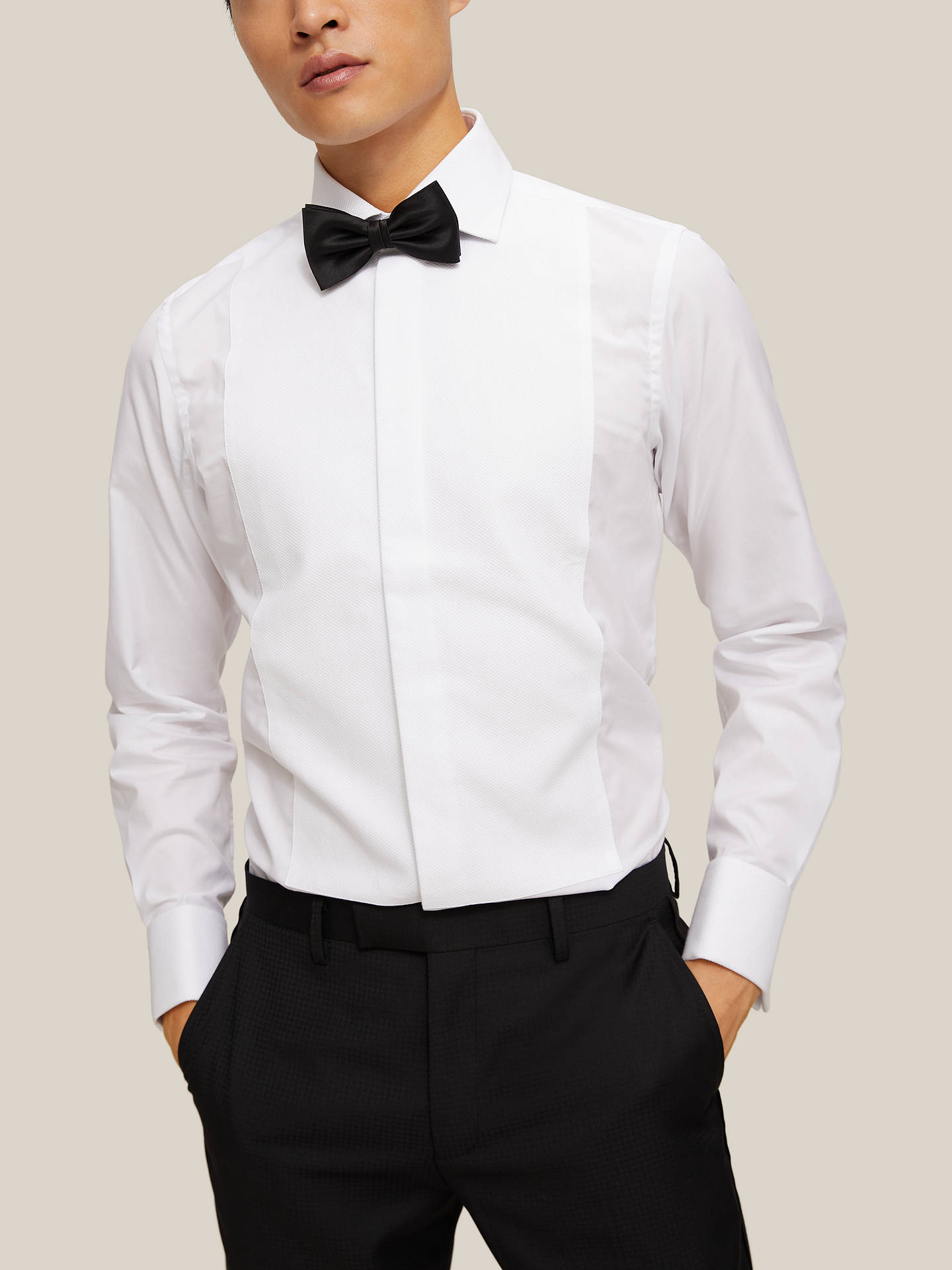 BuySmyth & Gibson Non Iron Marcella Slim Fit Dress Shirt, White, 15 Online at johnlewis.com