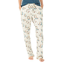 Buy Fat Face Animal Baubles Jersey Lounge Pyjama Bottoms, Ivory Online at johnlewis.com