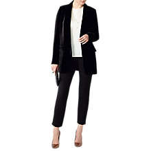 Buy Pure Collection Relaxed Silk Blend Velvet Blazer, Black Online at johnlewis.com