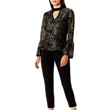 Buy Coast Brea Lace Blouse, Black Online at johnlewis.com