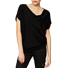 Buy Mint Velvet Metallic Batwing Jumper, Black Online at johnlewis.com