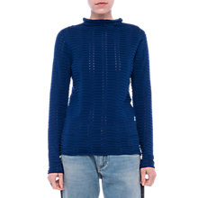 Buy French Connection Mozart Ladder Jumper, Blue Depths Online at johnlewis.com