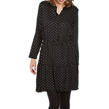 Buy Fat Face Copper & Black Carolie Polka Dot Dress, True Black Online at johnlewis.com