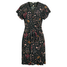 Buy Fat Face Martha Wildflower Dress, True Black Online at johnlewis.com