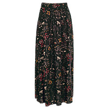 Buy Fat Face Keeley Wildflower Maxi Skirt, True Black Online at johnlewis.com