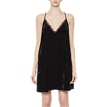 Buy French Connection Lorraine Velvet Strappy V-Neck Dress, Black Online at johnlewis.com