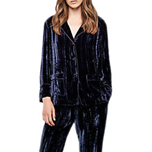 Buy Gerard Darel Brody Velvet Blouse, Blue Online at johnlewis.com