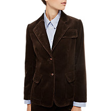 Buy Gerard Darel Veste Cotton Cord Jacket, Brown Online at johnlewis.com