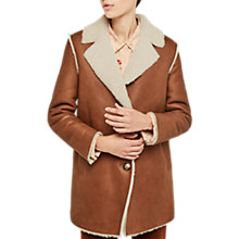 Buy Gerard Darel Fourrure Sheepskin Coat, Camel Online at johnlewis.com
