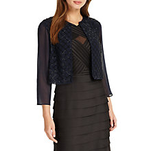 Buy Phase Eight Pippa Beaded Jacket, Navy/Black Online at johnlewis.com