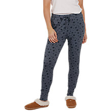 Buy Fat Face Sketched Star Pyjama Leggings, Denim Online at johnlewis.com