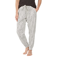 Buy Fat Face Glacier Polar Bear Cuffed Pyjama Bottoms, Grey Marl Online at johnlewis.com