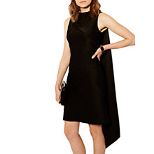 Buy Karen Millen Asymmetric Shift Dress, Black Online at johnlewis.com