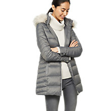 Buy Mint Velvet Quilted Padded Parker Jacket, Dark Grey Online at johnlewis.com