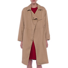 Buy French Connection Erna Drape Long Sleeve Coat, Camber Sands Online at johnlewis.com