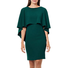 Buy Coast Cressida Cape Shift Dress, Forest Online at johnlewis.com