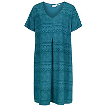 Buy Fat Face Clara Geo Weave Dress, Deep Teal Online at johnlewis.com