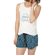 Buy Fat Face Up To Snow Good Pyjama Short And Top Set, Teal Online at johnlewis.com