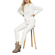 Buy Mint Velvet Pom Pom Star Knit Jumper, Ivory Online at johnlewis.com