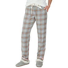 Buy Fat Face Pretty Classic Check Pyjama Bottoms, Grey Marl Online at johnlewis.com