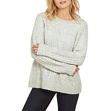 Buy Fat Face Katy Cable Jumper, Grey Marl Online at johnlewis.com