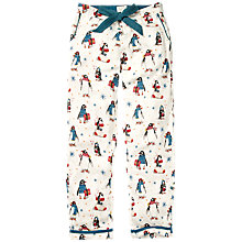 Buy Fat Face Penguin Classic Pyjama Bottoms, Ivory Online at johnlewis.com