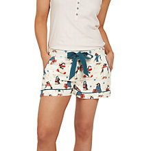 Buy Face Face Penguins Print Pyjama Shorts, Teal Online at johnlewis.com