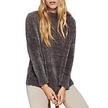 Buy Mint Velvet Chenille Funnel Neck Jumper, Dark Brown Online at johnlewis.com