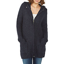 Buy Fat Face Lily Longline Cardigan, Navy Online at johnlewis.com