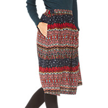Buy Fat Face Saffron Folklore Stripe Skirt, Multi Online at johnlewis.com