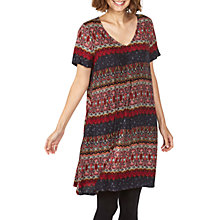 Buy Fat Face Clara Folklore Stripe Dress, Multi Online at johnlewis.com