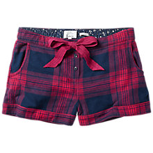 Buy Fat Face Festive Check Shorts, Navy Online at johnlewis.com