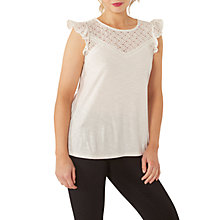 Buy Fat Face Copper & Black Selby Lace Top Online at johnlewis.com