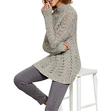 Buy Mint Velvet Shell Stitch Knit Jumper, Oatmeal Online at johnlewis.com