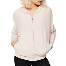 Buy Mint Velvet Marl Knitted Hoodie, Light Pink Online at johnlewis.com