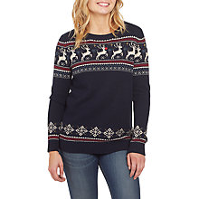 Buy Fat Face Ruby Reindeer Jumper, Navy Online at johnlewis.com