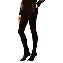 Buy Karen Millen Side Stripe Skinny Jeans, Black Online at johnlewis.com