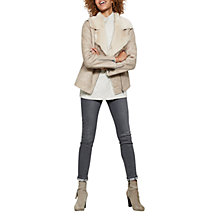 Buy Mint Velvet Faux Fur Aviator Jacket, Neutral Online at johnlewis.com