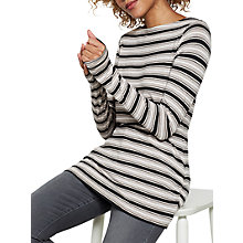 Buy Mint Velvet Long Sleeve Stripe Jersey T-Shirt, Oatmeal Online at johnlewis.com