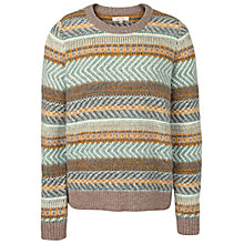 Buy Fat Face Isla Patterned Jumper, Multi Online at johnlewis.com
