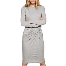 Buy Mint Velvet Knot Front Dress, Neutral Online at johnlewis.com