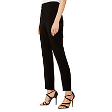 Buy Karen Millen Tailored Straight Trousers, Black Online at johnlewis.com