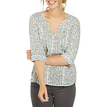 Buy Fat Face Phoebe Evergreen Popover Blouse, Ivory Online at johnlewis.com